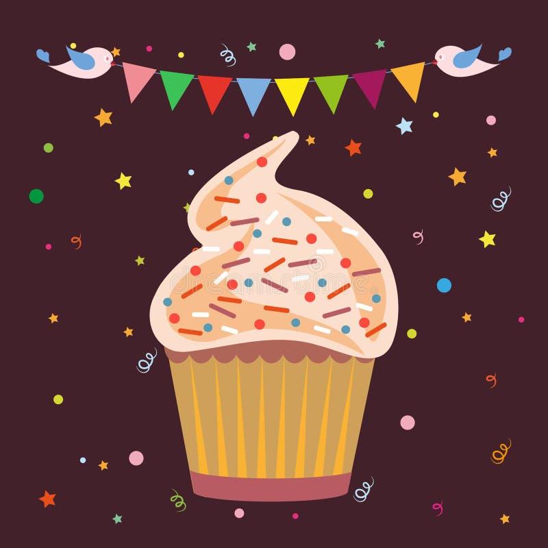 Logo de boutique de pâtisserie de petits gâteaux illustration de vecteur