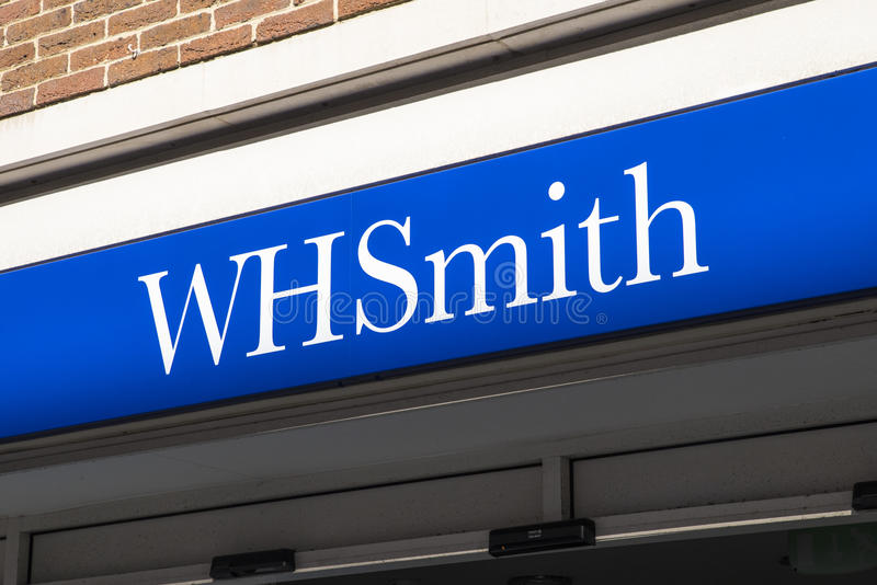 Logo de boutique de WHSmith image libre de droits