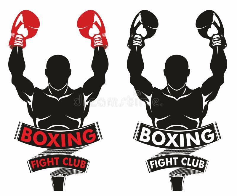 Logo de boxe illustration de vecteur