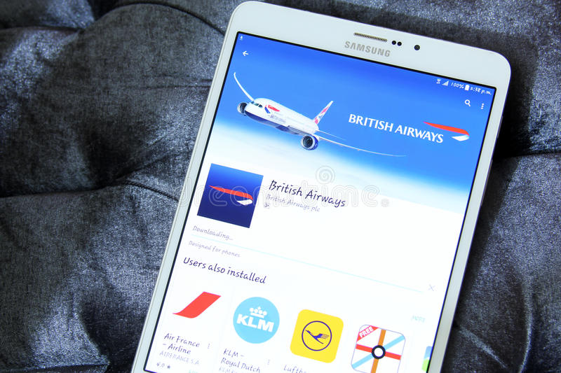 Logo de British airways APP image libre de droits