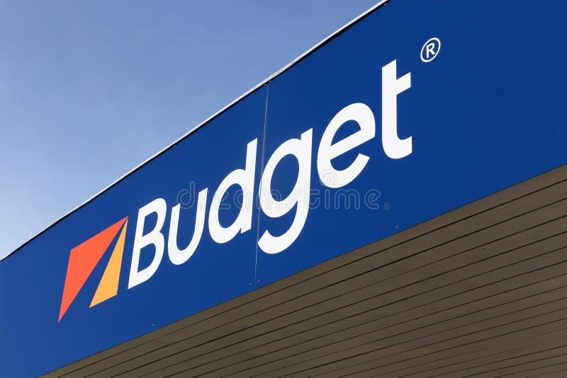 Logo de budget sur un mur image libre de droits