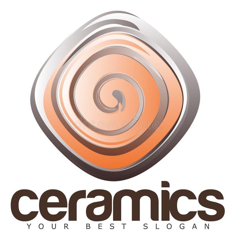 Logo de céramique ou de poterie illustration stock