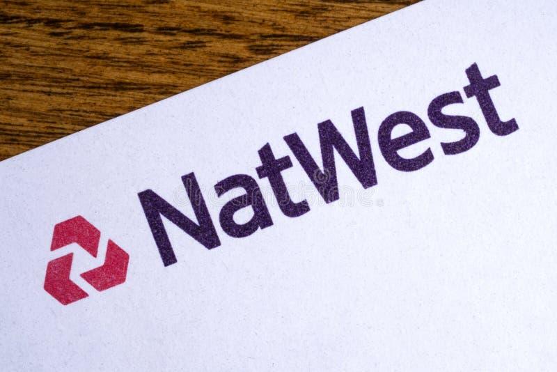 Logo de côté de Natwest images stock