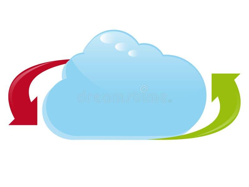 Logo de calcul de nuage illustration stock