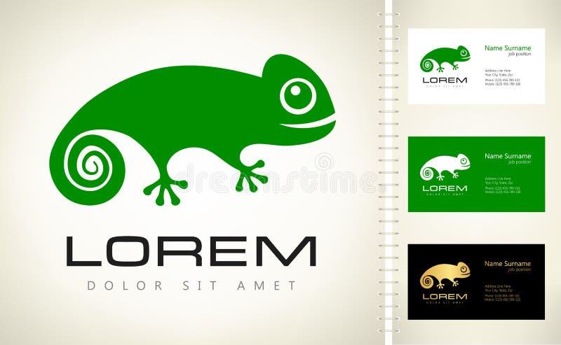 Logo de caméléon illustration stock