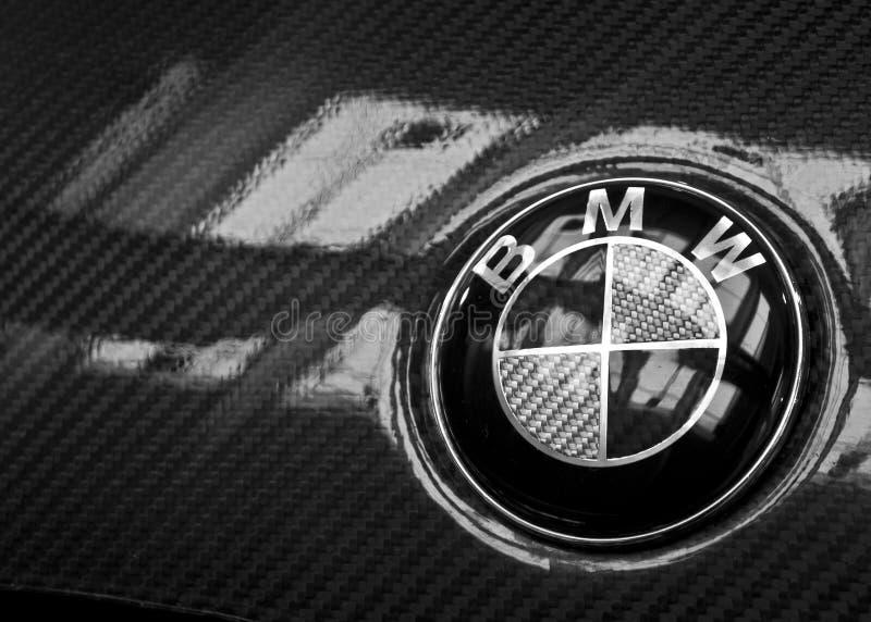 LOGO de carbone de BMW images stock