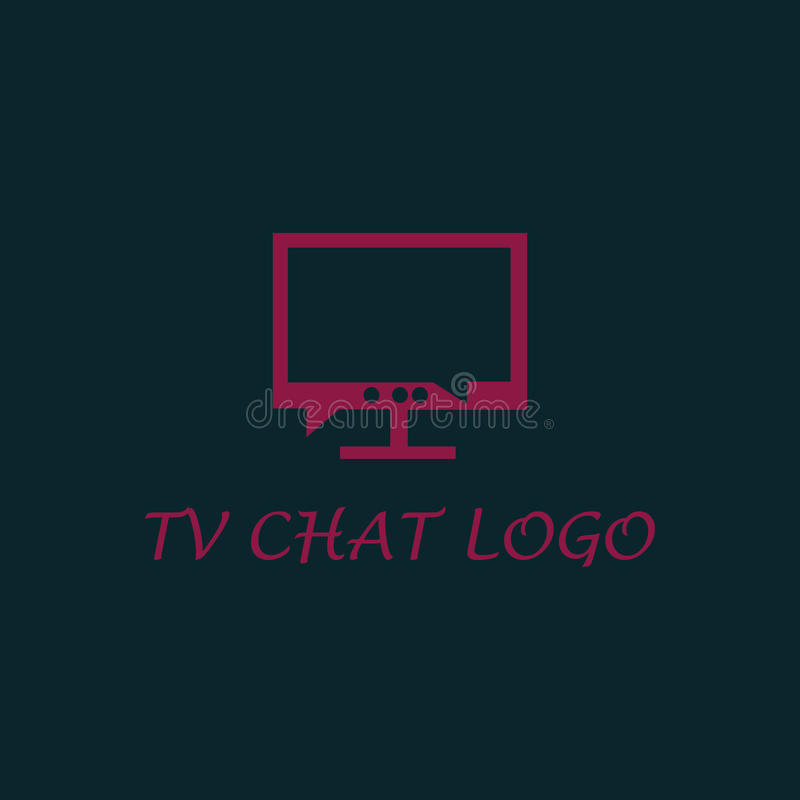 Logo de causerie de TV photo libre de droits