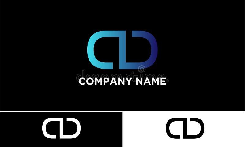 Logo de CD Company ou logo de boucle illustration stock