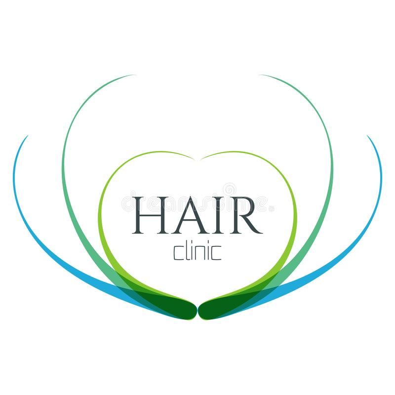 Logo de centre médical de cheveux illustration libre de droits
