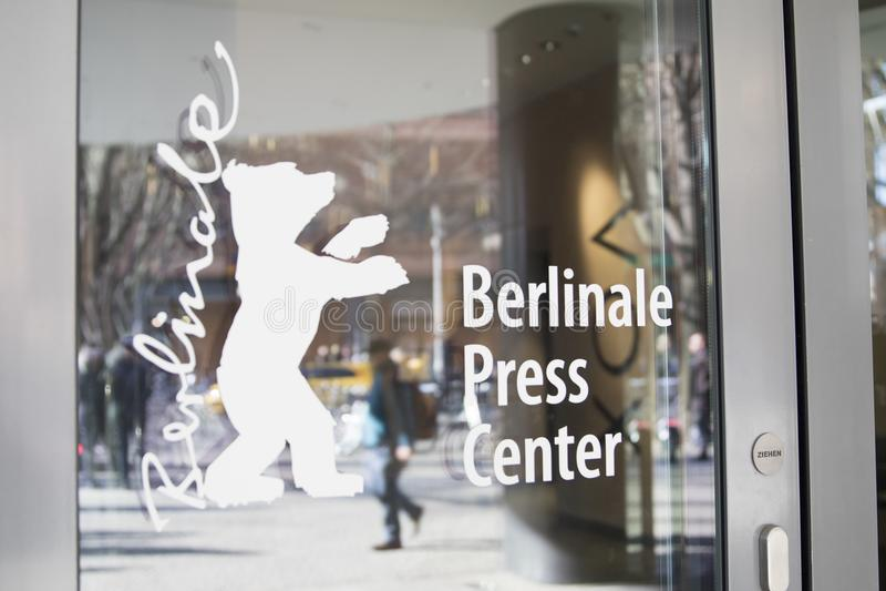 Logo de centre de presse de Berlinale images libres de droits