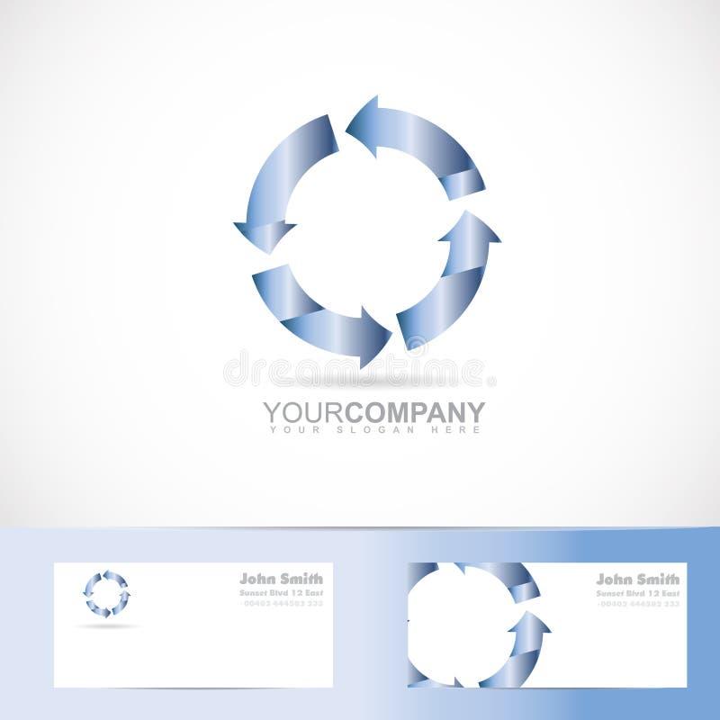 Logo de cercle de la flèche 3d de rotation illustration libre de droits