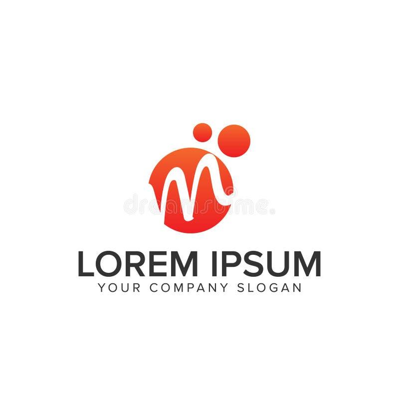 Logo de cercle de la lettre M illustration stock
