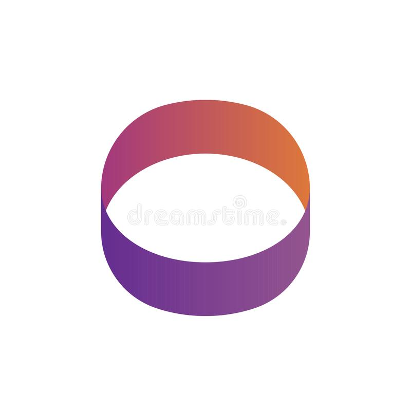 Logo de cercle ou logo form? par oeil illustration de vecteur