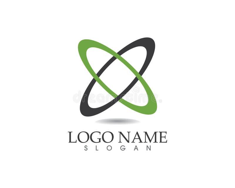 Logo de cercle de technologie et vecteur de symboles illustration de vecteur