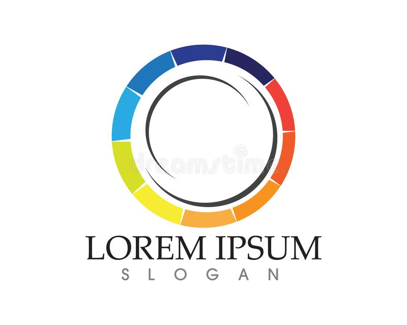 Logo de cercle de vortex et icônes APP de calibre de symboles illustration stock