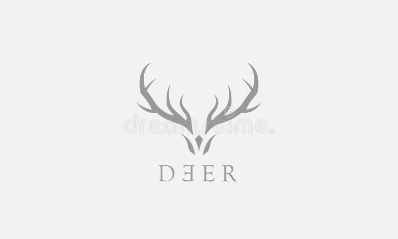 Logo de cerfs communs illustration stock