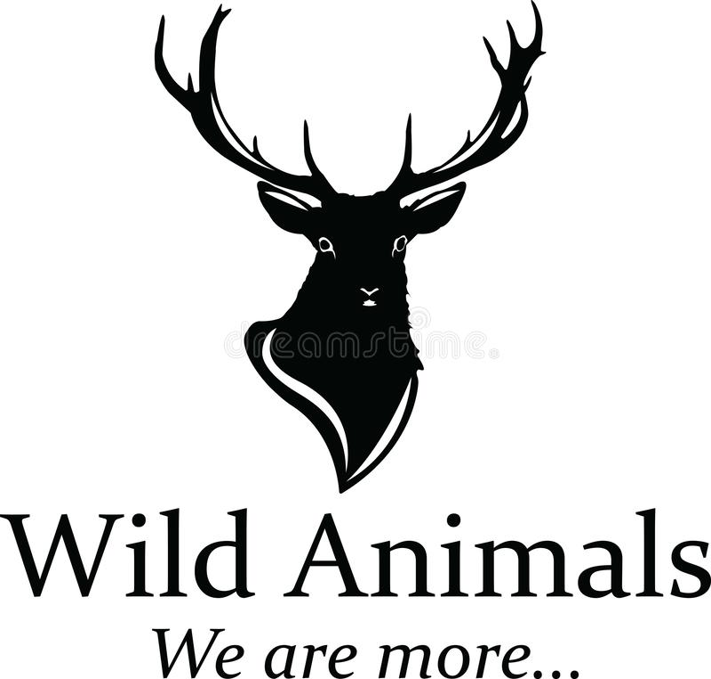 Logo de cerfs communs illustration de vecteur