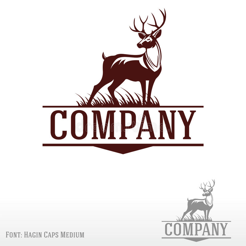 Logo de cerfs communs illustration libre de droits