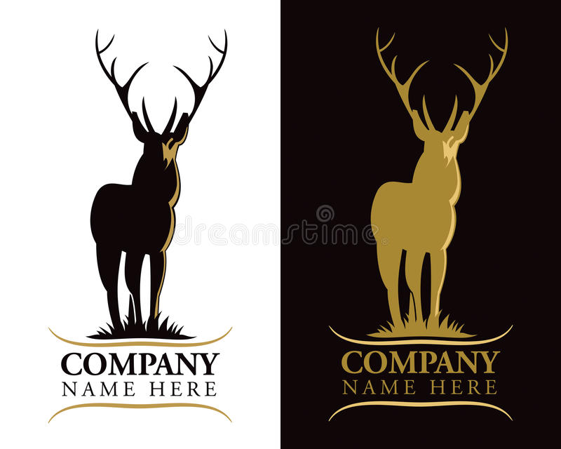 Logo de cerfs communs de mâle illustration stock