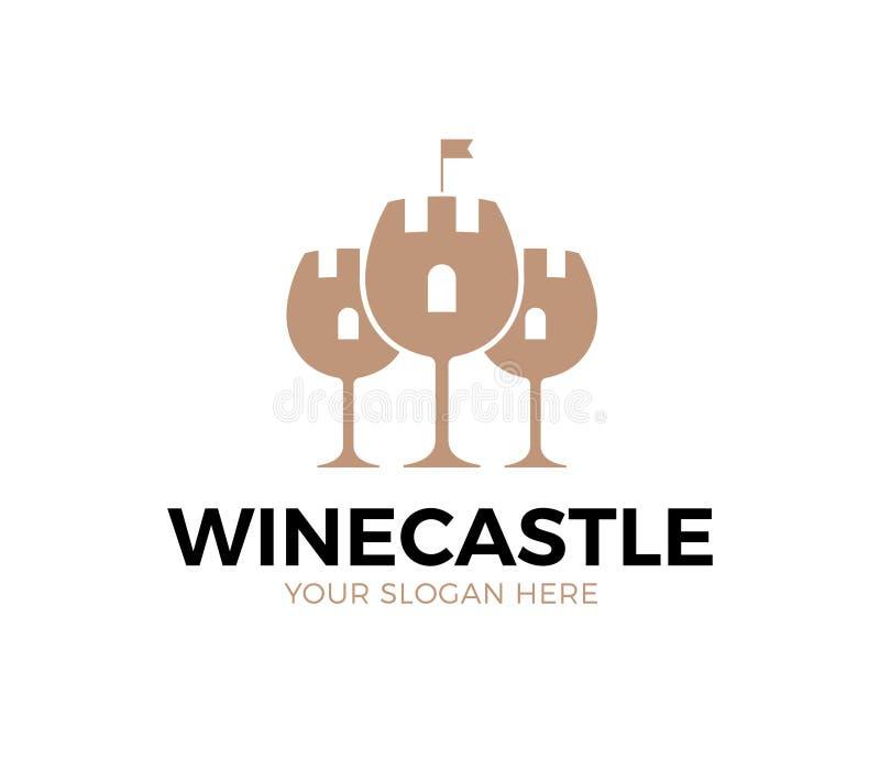 Logo de château de vin illustration libre de droits