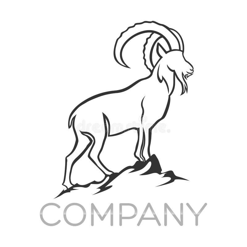 Logo de chèvre de Moder Illustration de vecteur illustration de vecteur