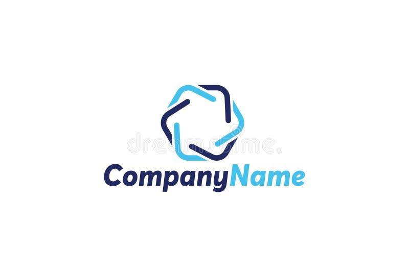 Logo de chaîne de bloc de vecteur illustration de vecteur