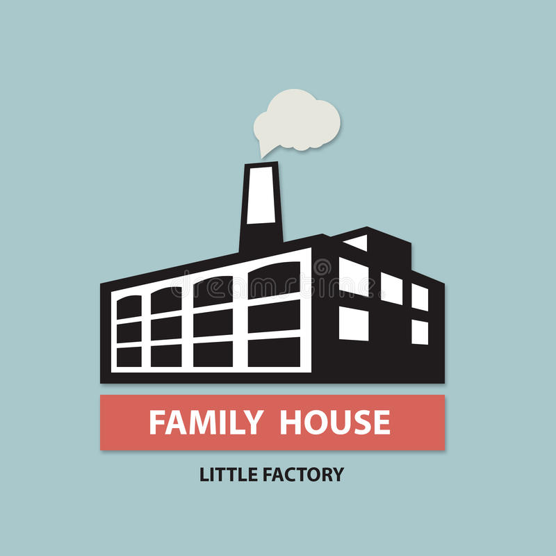 Logo de Chambre d'usine de famille illustration de vecteur