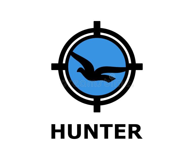 Logo de chasseur d'oiseau illustration stock