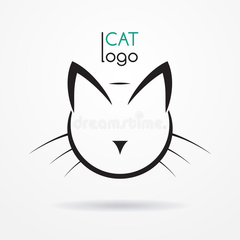 Logo de chat illustration libre de droits