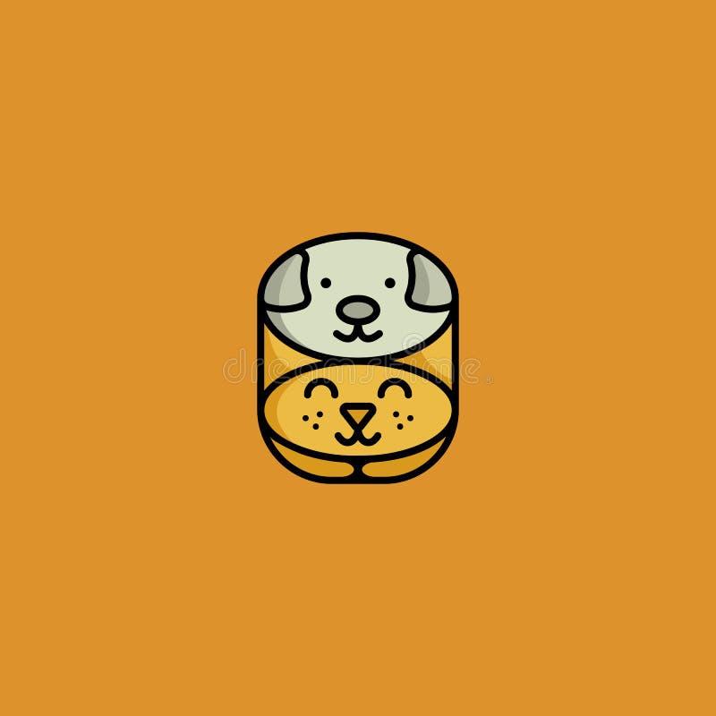 Logo de chat et de crabot illustration stock