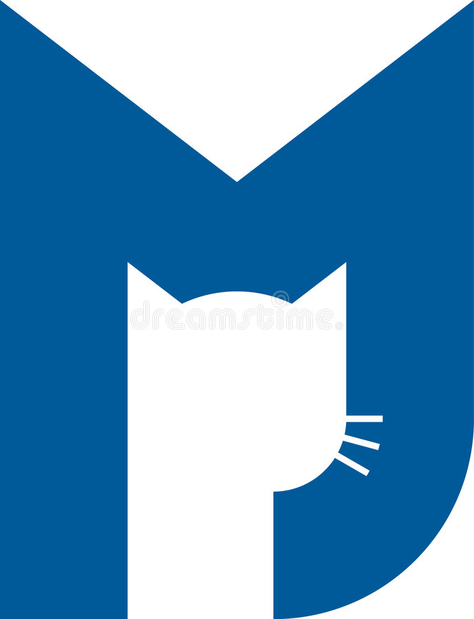 Logo de chat (vecteur) illustration libre de droits