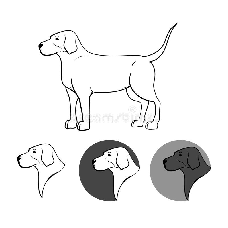 Logo de chien illustration stock