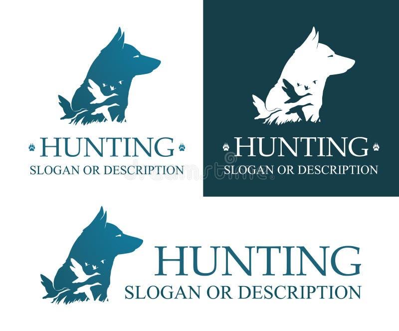 Logo de chien de chasse illustration libre de droits