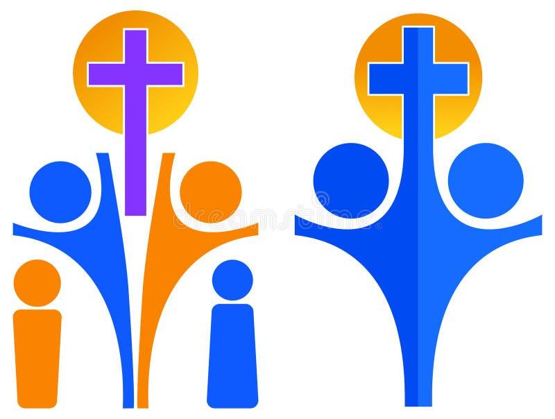 Logo de christianisme illustration de vecteur