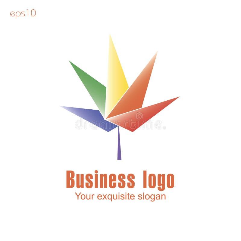 Logo de cinq feuilles illustration stock