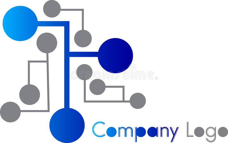 Logo de circuit illustration libre de droits