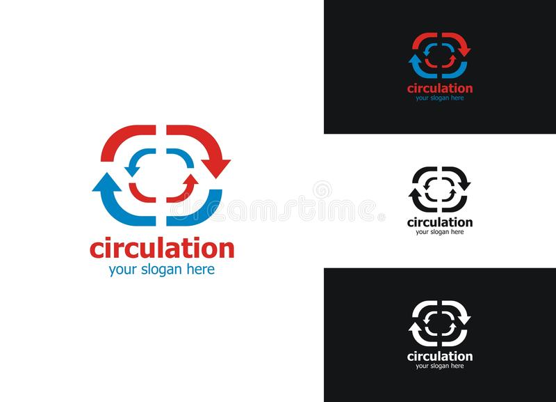 Logo de circulation illustration stock