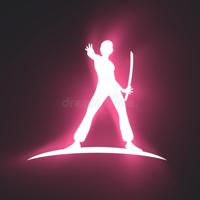 Logo de club d'art martial de Kung Fu illustration libre de droits