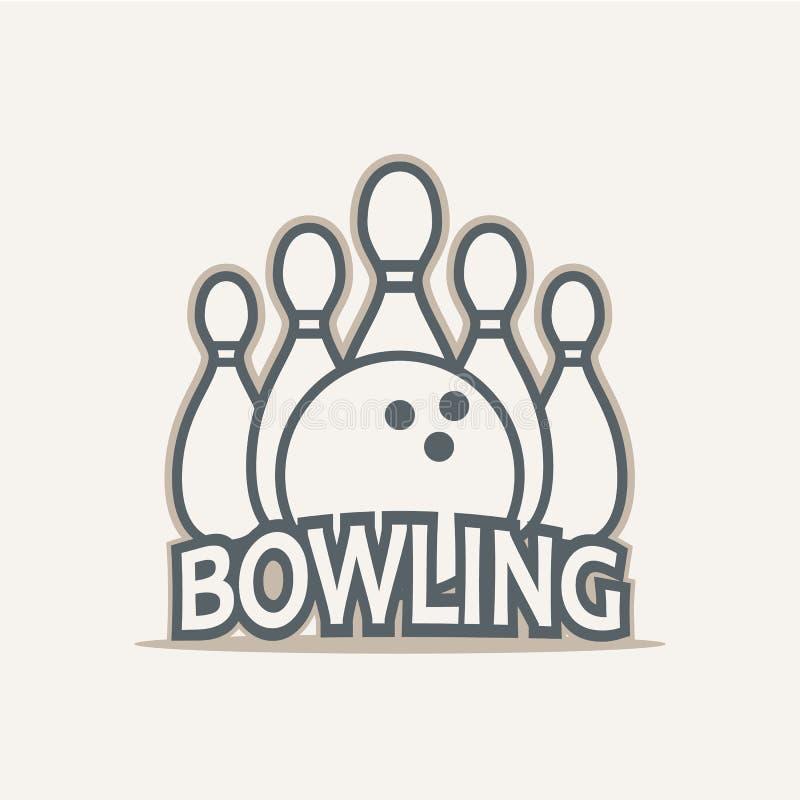 Logo de club de bowling illustration stock