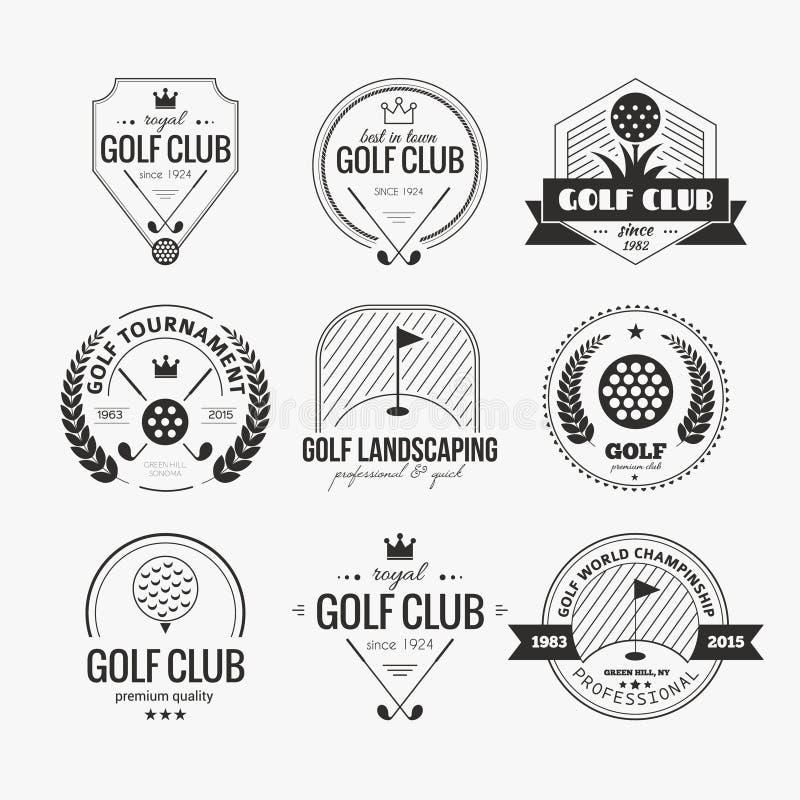 Logo de club de golf illustration de vecteur
