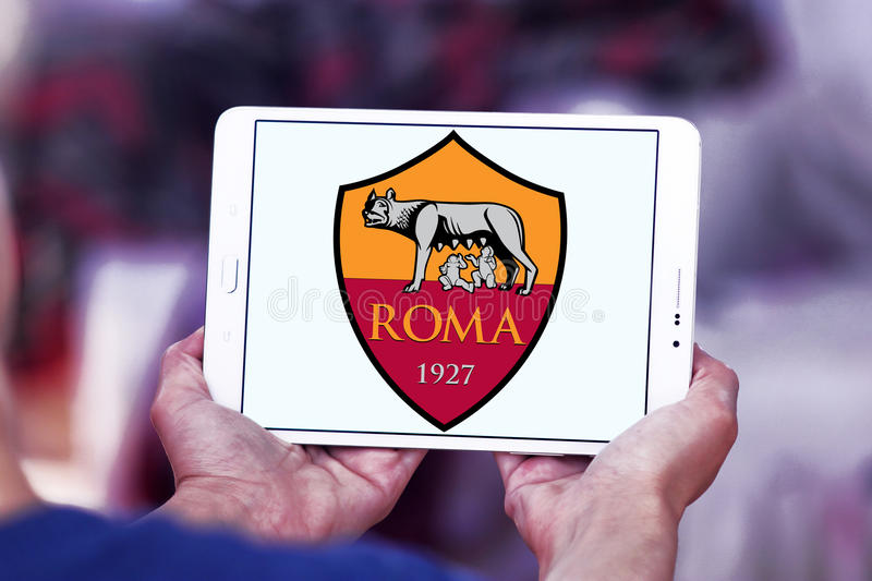 Logo de club du football de Roma photographie stock libre de droits