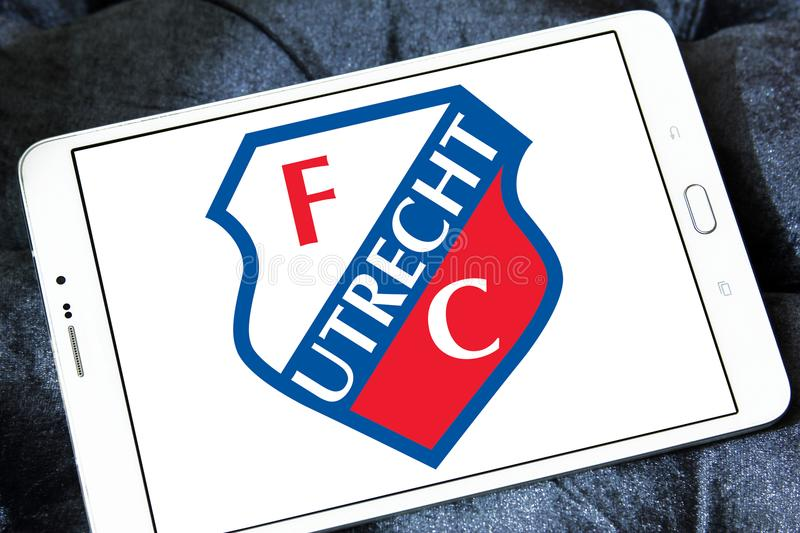 Logo de club du football de FC Utrecht photos stock