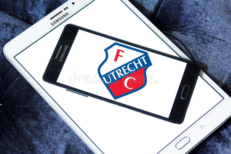 Logo de club du football de FC Utrecht image stock