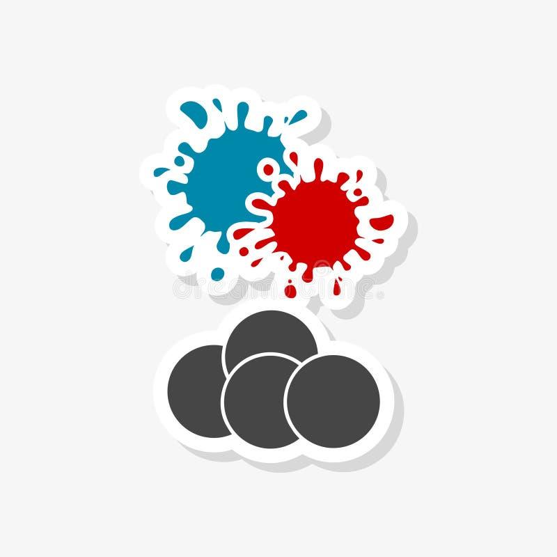 Logo de club de Paintball, autocollant de Paintball illustration de vecteur