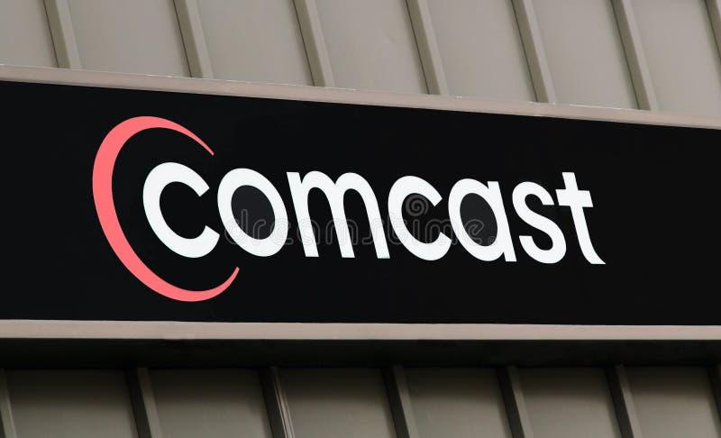 Logo de Comcast images libres de droits