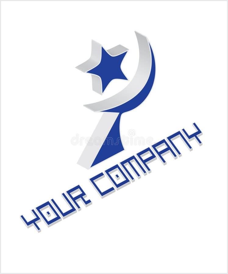 Logo de compagnie avec l'étoile et humeur illustration stock