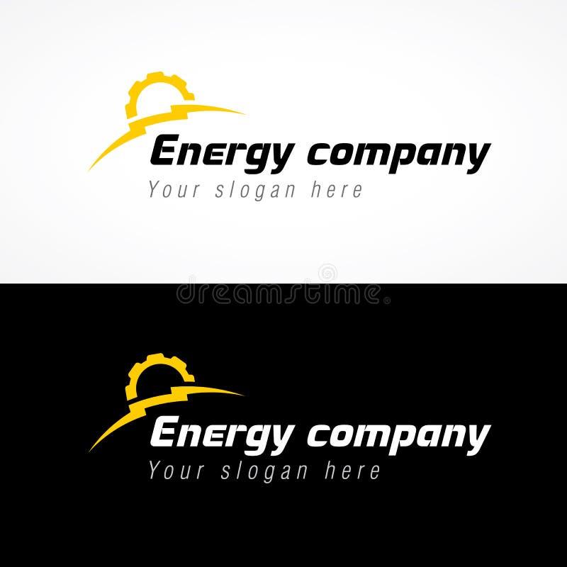 Logo de compagnie d'énergie illustration de vecteur