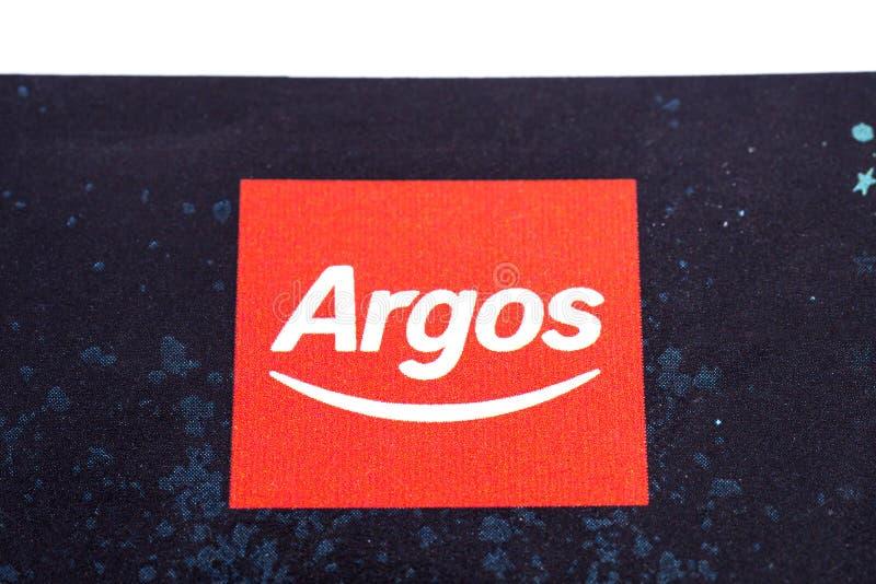 Logo de compagnie d'Argos photographie stock libre de droits