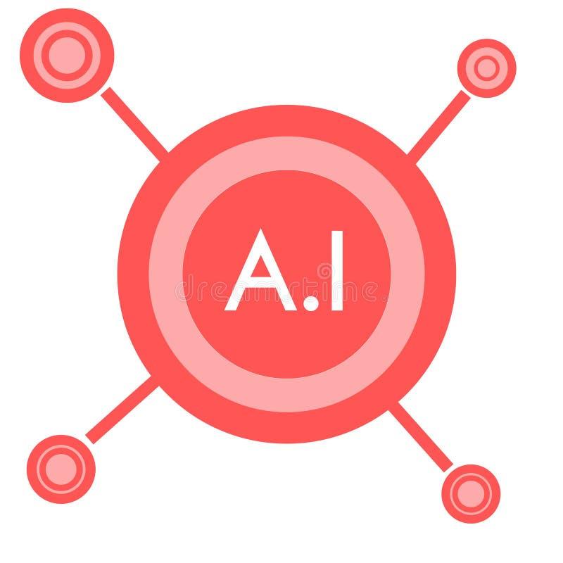 Logo de compagnie d'intelligence artificielle avec le texte illustration libre de droits
