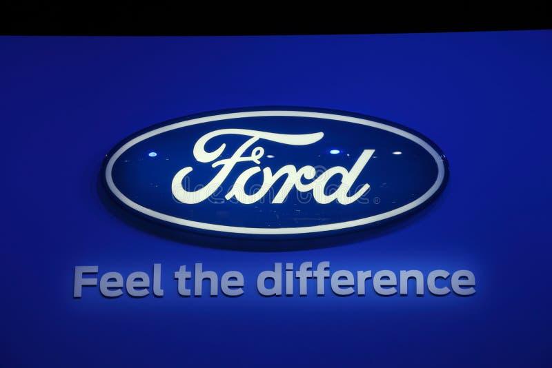 Logo de compagnie de Ford à l'IAA photos stock
